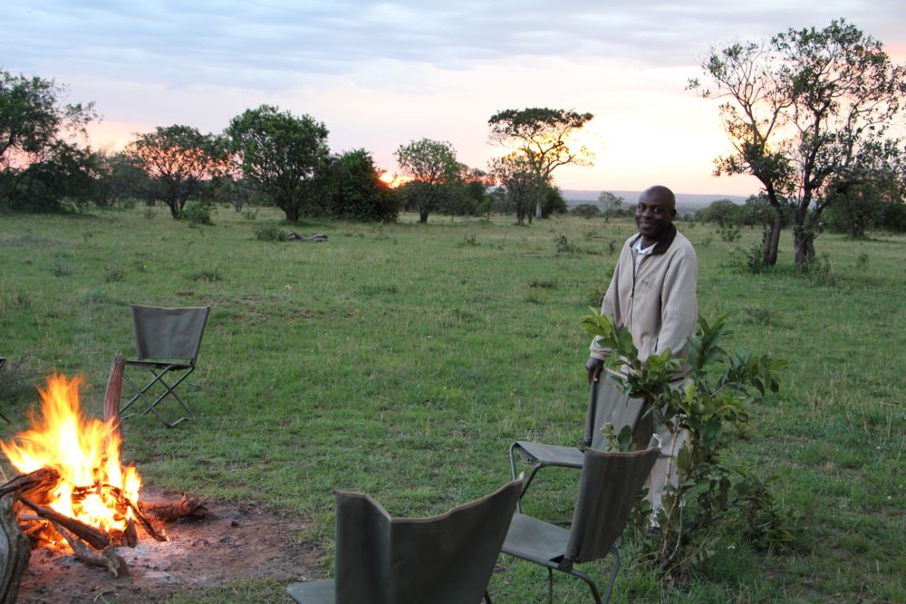 Ndutu Wilderness Camp - campfire
